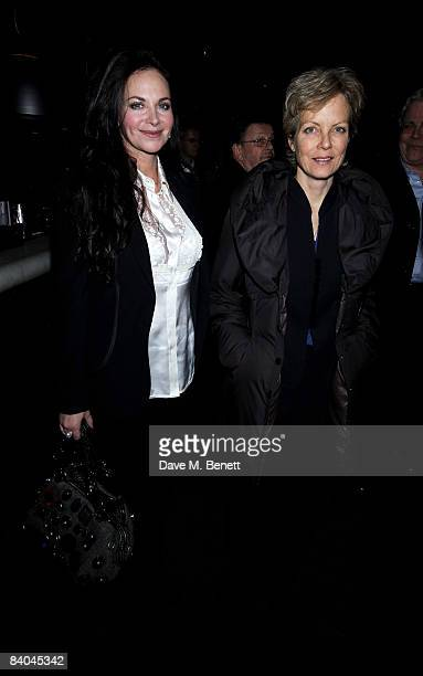 Carole Caplin and Jenny Seagrove attend the press night of 'Sunset Boulevard' at Floridita on December 15 2008 in London England