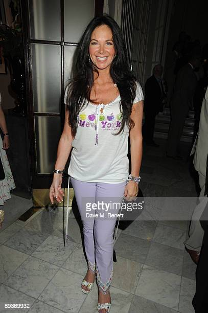 Carole Caplin attends the Dreamboats and Peticoats first night party at the Waldorf Hotel July 27 2009 in London England