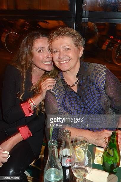 Carole Chretiennot and her mother Colette Siljegovic attend the 'Prix De Flore 2012' Literary Award Ceremony Party at the Cafe de Flore on November 8...
