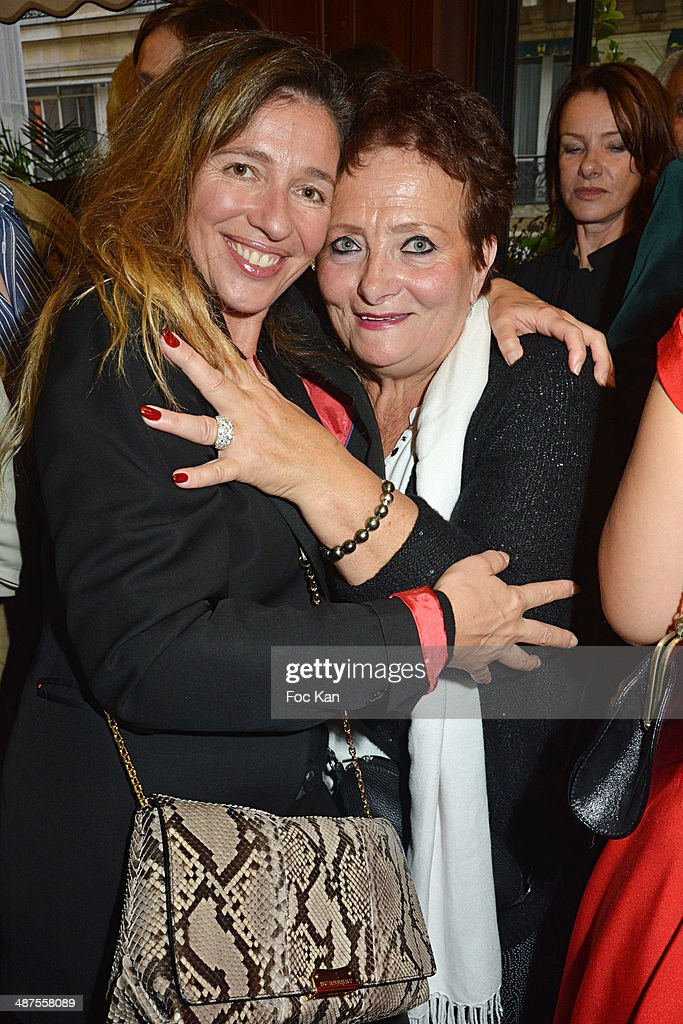 Carole Chretiennot and Irene Poupet from Le Cafe de Flore attend the Francis Boussard's and Nadine Carpentier's : Private Cocktail At Cafe de Flore on April 30, 2014 in Paris, France.