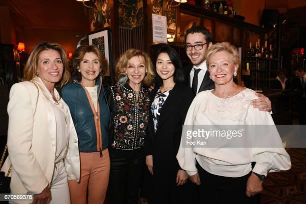 Carole Chretiennot Anne Nivat Emmanuelle de Boysson Sonoko Siljegovic her husband Alexandre Siljegovic and his mother Colette Siljegovic attend 'La...