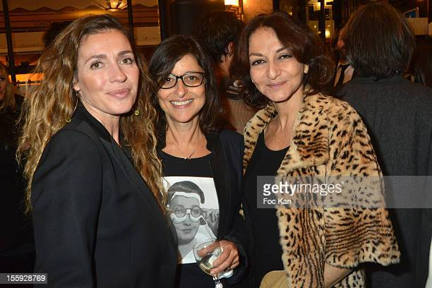 Carole Chretiennot Michele Fitoussi and Nathalie Rykiel attend the 'Prix De Flore 2012' Literary Award Ceremony Party at the Cafe de Flore on...