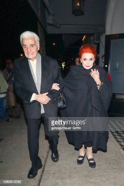 Carole Cook and Tom Troupe are seen on January 10 2019 in Los Angeles California