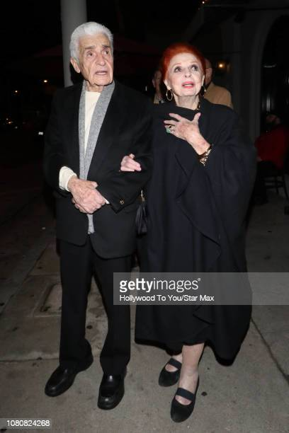 Carole Cook and Tom Troupe are seen on January 10 2019 in Los Angeles CA