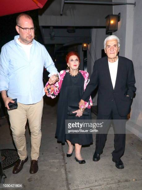 Carole Cook and Tom Troupe are seen on September 09 2018 in Los Angeles California