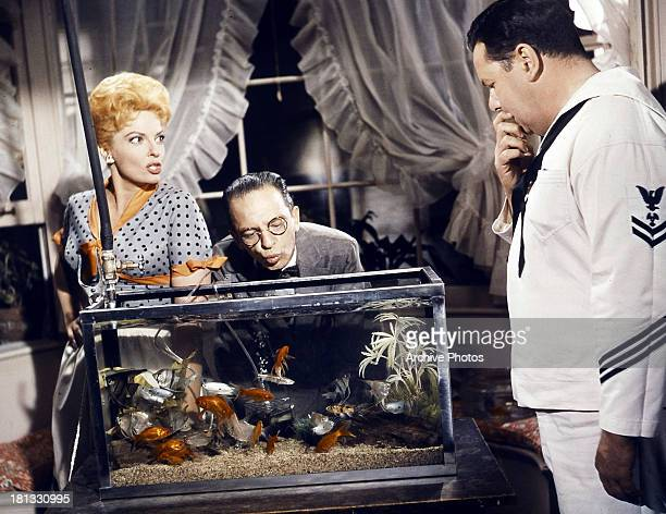 Carole Cook Don Knotts and Jack Weston in a scene from the film 'The Incredible Mr Limpet' 1964