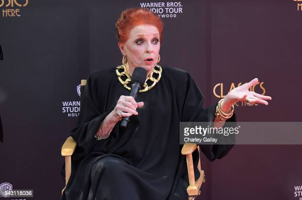 Carole Cook speaks at Warner Bros Studio Tour Hollywood Launches Brand New Classics Tour and Exhibit with Carole Cook Leonard Maltin at Warner Bros...