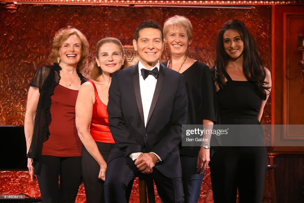 Carole Demas, Tovah Feldshuh, Singer Michael Feinstein, Liz Callaway and Lesli Margherita attend Feinstein's/54 Below Press Preview at 54 Below on July 17, 2017 in New York City.