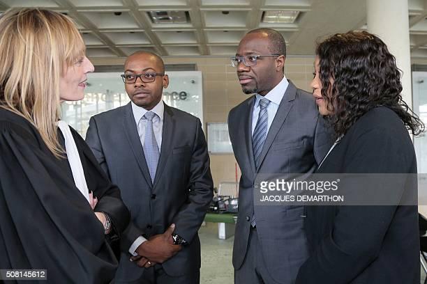 Carole Enfert the French lawyer representing the children of Angolan rebel chief Jonas Savimbi speaks with Savimbi's Children Helena Savimbi Alleluia...