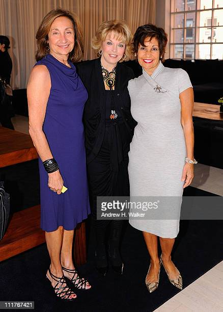 Carole Isenberg Pat Mitchell and Pamela Serure attend the Events Of The Heart The Million Women's Heart Summit at Donna Karan's Urban Zen Center at...