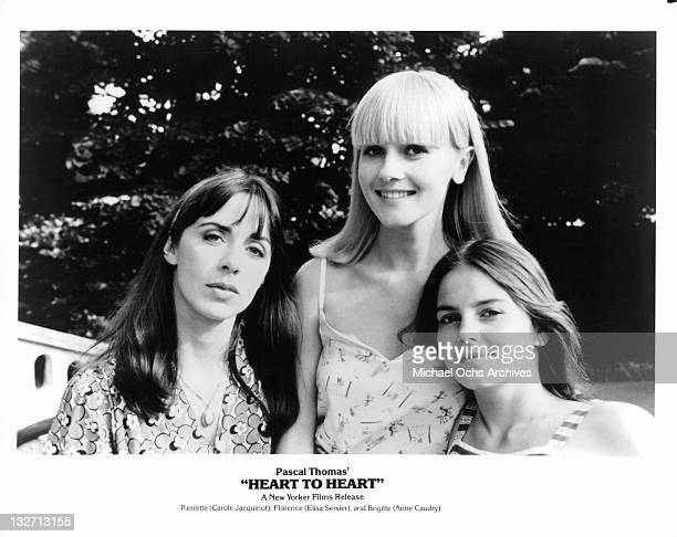 Carole Jacquinot and Elisa Servier in a scene from the film 'Heart To Heart', 1979.