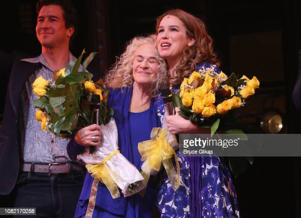 Carole King and Chilina Kennedy as Carole King at the 5th Anniversary Celebration party for BeautifulThe Carole King Musical on Broadway at The...