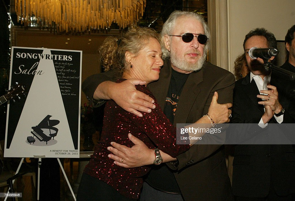 Carole King and Gerry Goffin at the Private Residence in Beverly Hills, California