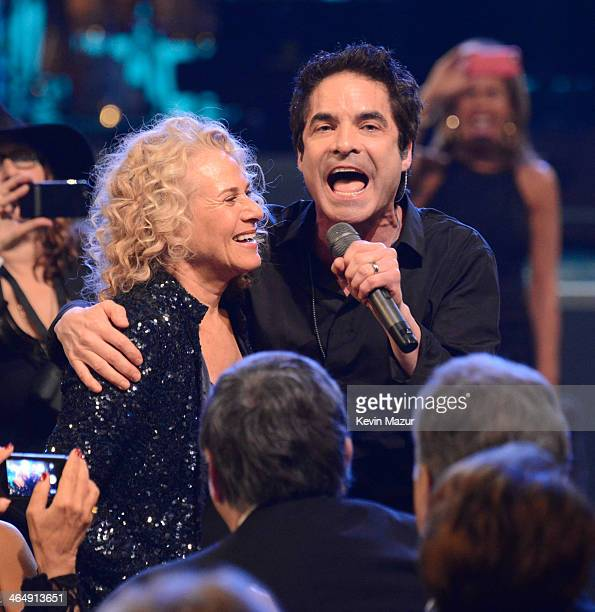 Carole King and Patrick Monahan perform onstage at 2014 MusiCares Person Of The Year Honoring Carole King at Los Angeles Convention Center on January...