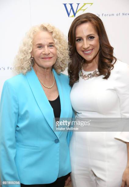 Carole King and Teresa Priolo attend The 7th Annual Elly Awards at The Plaza Hotel on June 19 2017 in New York City