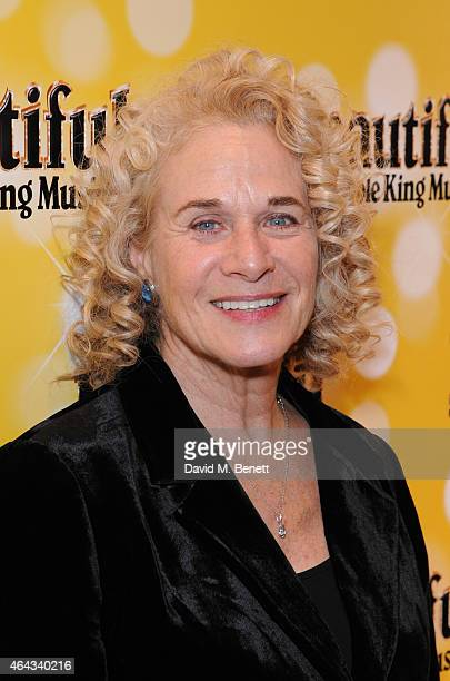 Carole King attends an after party following the press night performance of 'Beautiful The Carole King Musical' playing at the Aldwych Theatre at the...