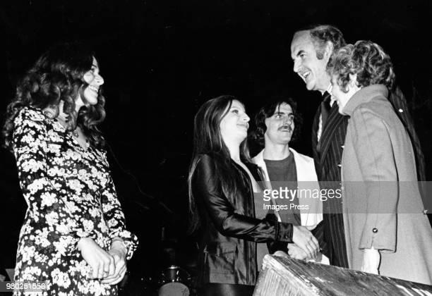 Carole King Barbara Streisand James Taylor George McGovern and Eleanor McGovern circa 1978 in Los Angeles