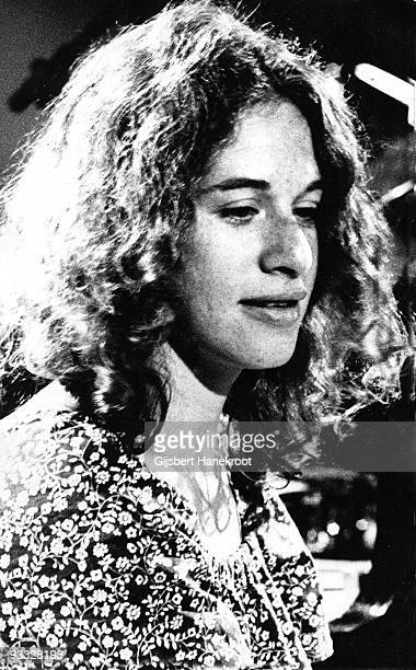 Carole King performs at BBC TV studios in London in 1970