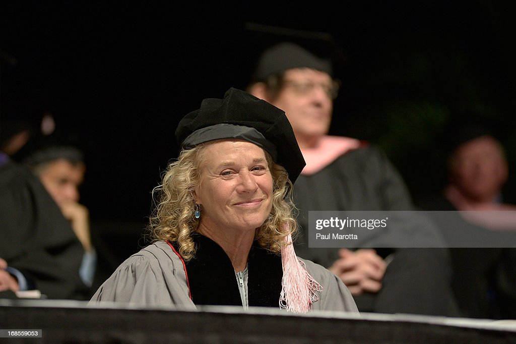 Carole King receives an Honorary Doctor of Music Degree during the 2013 Berklee College Of Music Commencement Ceremony at Berklee College of Music on May 11, 2013 in Boston, Massachusetts.