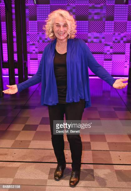 Carole King surprises the West End cast of 'Beautiful The Carole King Musical' at the Aldwych Theatre on March 6 2017 in London England
