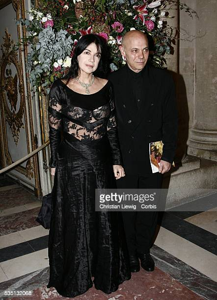 Carole Laure and her husband at the charity gala Soiree Internationnale Pour l' Enfance held in Versailles