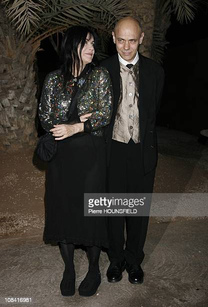 Carole Laure and her husband Lewis Furey in Marrakech Kingdom of Morocco on December 08th 2007