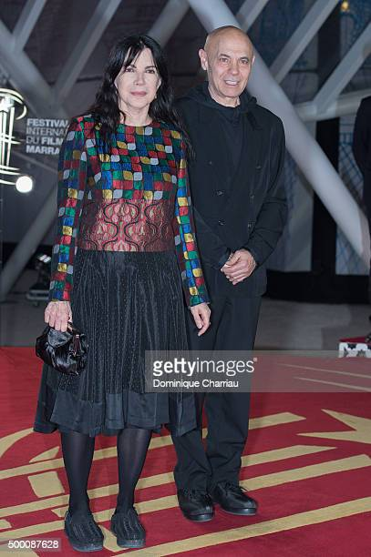 Carole Laure and Lewis Furey attends the MR Holmes premiere during the15th Marrakech International Film Festival on December 5 2015 in Marrakech...