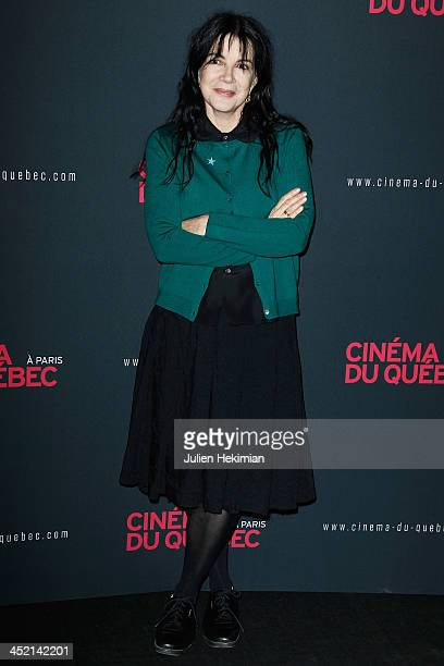 Carole Laure attends 'Cinema Du Quebec' Opening Party In Paris at Forum Des Images on November 26 2013 in Paris France