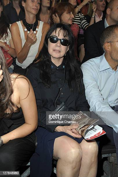 Carole Laure attends the Sonia Rykiel Ready to Wear Spring / Summer 2012 show during Paris Fashion Week at Halle Freyssinet on October 1 2011 in...
