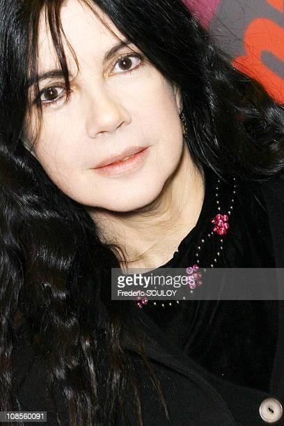 Carole Laure in Paris France on November 22 2006