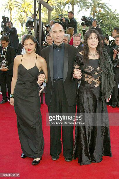 Carole Laure JeanMarc Barr and Clara Furey during 2004 Cannes Film Festival The Ladykillers Premiere at Palais Du Festival in Cannes France