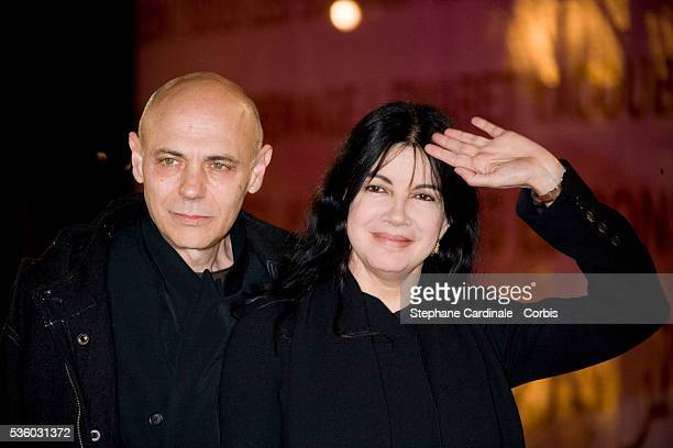 Carole Laure with her husband Lewis Furey attend the Tribute to Shinji Aoyama at the 7th Marrakech Film Festival in Morocco