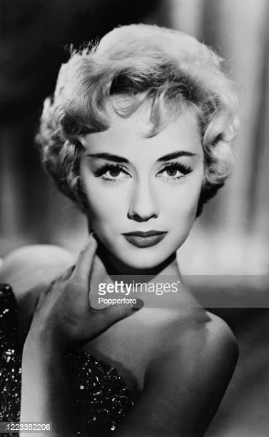 """Carole Lesley, British actress of film and television, whose short career as a """"blonde bombshell"""" ended in suicide at the age of 38, circa 1960...."""