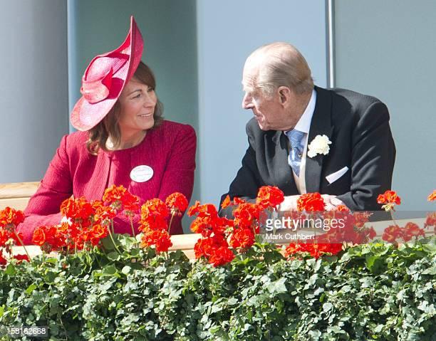 Carole Middleton And Duke Of Edinburgh On The Third Day Of Royal Ascot.