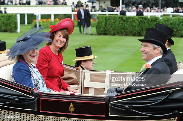 Carole Middleton and Michael Middleton attend Ladies Day at Royal Ascot at Ascot Racecourse on June 21, 2012 in Ascot, England.