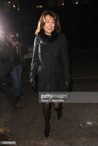 Carole Middleton attends a Christmas carol concert in aid of the Henry van Strauzenbee memorial fund at St Luke's Church on December 4 2013 in London...