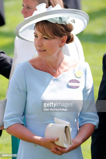 Carole Middleton attends day 1 of Royal Ascot at Ascot Racecourse on June 20 2017 in Ascot England
