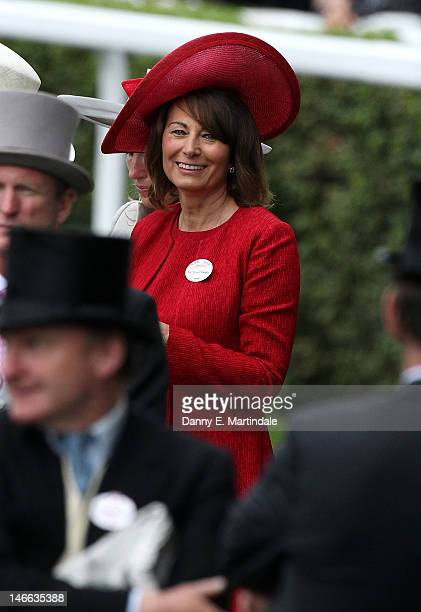 Carole Middleton attends day three of Royal Ascot Ladies Day at Ascot Racecourse on June 21 2012 in Ascot England
