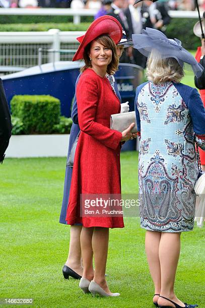 Carole Middleton attends Ladies Day of Royal Ascot at Ascot Racecourse on June 21 2012 in Ascot England