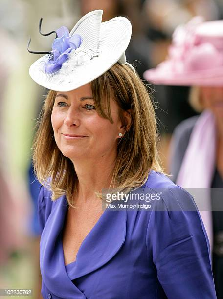 Carole Middleton mother of Kate Middleton attends day 5 of Royal Ascot at Ascot Racecourse on June 19 2010 in Ascot England