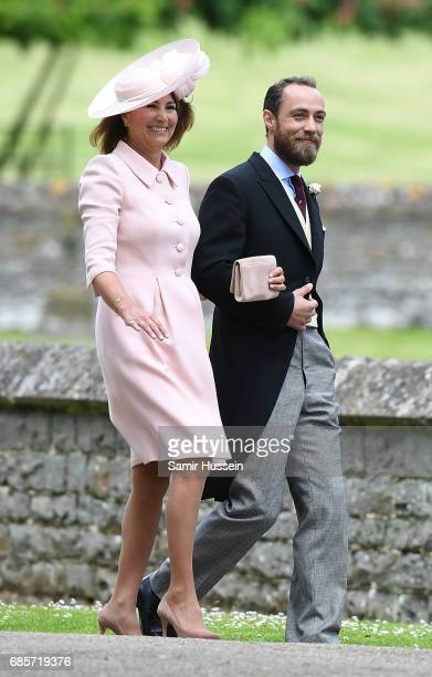 Carole Middleton Pippa's mother and James Middleton Pippa's brother attend the wedding of Pippa Middleton and James Matthews at St Mark's Church on...
