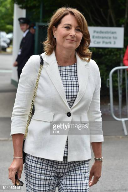 Carole Middleton seen at Day 11 of Wimbledon 2017 on July 14 2017 in London England