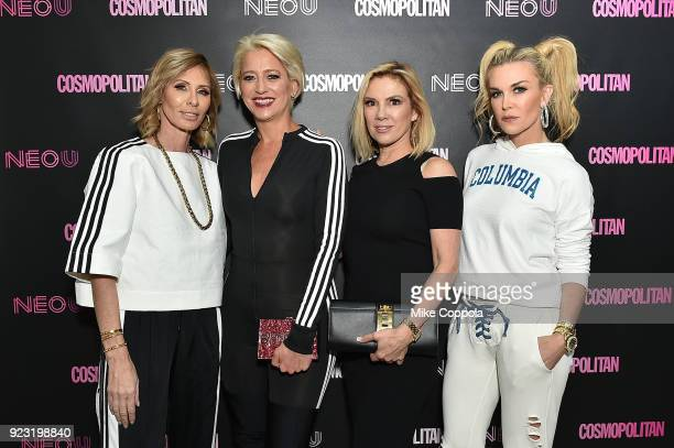 Carole Radziwill Dorinda Medley Ramona Singer and Tinsley Mortimer attend the opening of fitness space NEO U on February 22 2018 in New York City