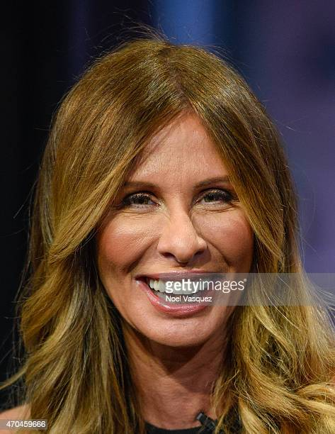 Carole Radziwill visits 'Extra' at Universal Studios Hollywood on April 20 2015 in Universal City California