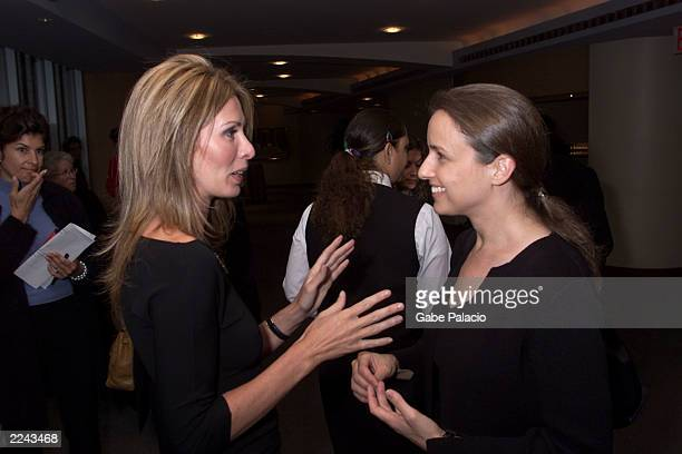 Carole Radziwill wife of Anthony Radziwill and direct Edet Belzberg speaking at HBO's reception and special screening of Children Underground...