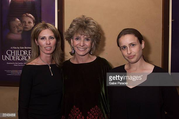 Carole Radziwill wife of Anthony Radziwill HBO's Executive Producer Sheila Nevins and director Edet Belzberg at HBO's reception and special screening...