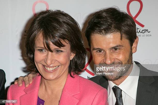 Carole Rousseau and Christophe Beaugrand attend the 'Sidaction 20th Anniversary' at Musee du Quai Branly on March 10 2014 in Paris France