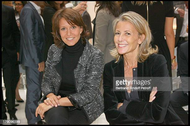 Carole Rousseau and Claire Chazal at Press Conference For On Se Retrouve Sur TF1