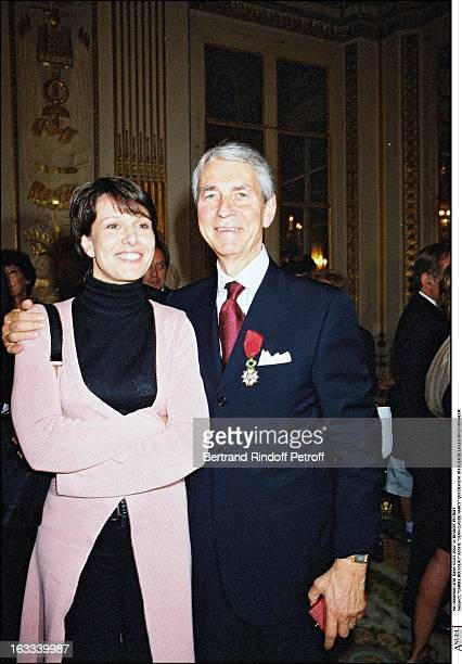 Carole Rousseau Assite Jean Claude Narcy becomes officer of the Legion of Honor in 2002