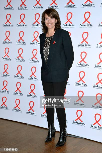Carole Rousseau attends the Sidaction 2019 photocall at Salle Wagram on March 18 2019 in Paris France